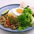 料理メニュー写真半熟卵のスパイシーガパオライス