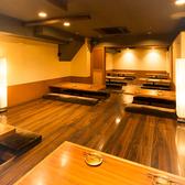 広々したお席です。団体様でご使用時はひとつの個室となります。