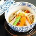 料理メニュー写真自家製のっぺ汁(温・冷)
