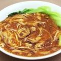 料理メニュー写真ザーサイ/豚足の醤油煮込み/アワビのサラダ