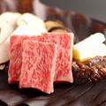 料理メニュー写真【村上牛の朴葉味噌焼き】新潟の自慢の一つ村上牛。A5ランクのものをご用意。