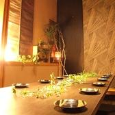 最大8名様ご利用可能な、テーブル席個室♪
