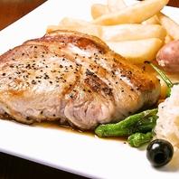 国産豚ロースの鉄板ステーキ