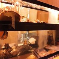 生け簀の新鮮な牡蠣、あわび等をお楽しみ頂けます