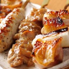 料理メニュー写真串焼おまかせ5種盛り