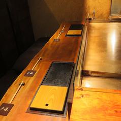 1~2名様はカウンター席もオススメです!目の前で作られる鉄板焼き料理を是非お楽しみください♪
