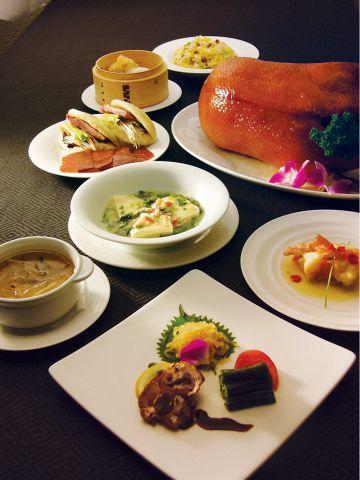 人気の北京ダックは広東スタイル。フカヒレ料理や四季のコースをご堪能頂けます。