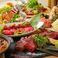 至極の贅沢プランが誕生!!大人気の炙り肉寿司が食べ放題で登場!思いっきり食べたい炙り肉寿司を思いっきり楽しんで下さい♪お酒と相性の良い肉と食べたらお酒と共に宴会も盛り上る事間違いなし★