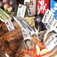 漁師直送!毎朝市場から買付けた鮮度抜群の旬の魚介類