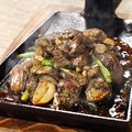 料理メニュー写真地頭鶏のニンニクスタミナ焼き