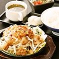 モツの鉄板焼き定食:ランチ1180円(税込)