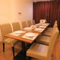 テーブル席は連結OK!会食や女子会、様々なシーンにピッタリ◎貸切も相談可能です。事前にご相談ください!