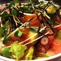 料理メニュー写真ネギトロとアボガドのサラダごはん