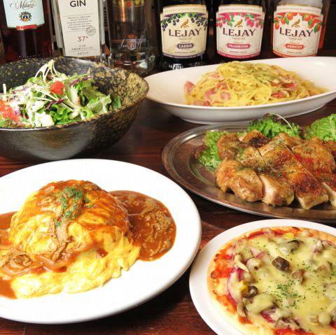 ふわふわのオムライスやシェフの気まぐれピザなど、各種ご宴会やパーティーには、当店のコースメニューで盛り上がりましょう!ドリンク・フード・デザートのアップグレードなども、お気軽にご相談ください♪早稲田でパーティーなら当店にお任せ☆