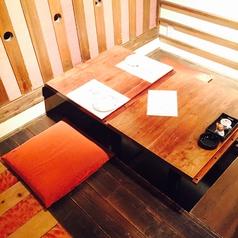 2名掛けの掘りごたつ式テーブル