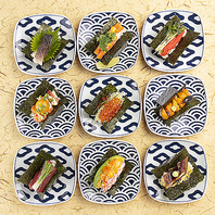 新鮮なネタの融合寿司ドック