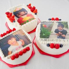 料理メニュー写真世界にひとつだけのプリントケーキ