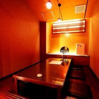 細部までこだわった上質空間。半個室、個室をご用意。