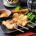 料理メニュー写真串盛り3種