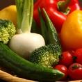 農家直送の新鮮な旬の野菜を提供!
