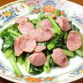 料理メニュー写真台湾風腸詰と季節野菜のさっぱり炒め