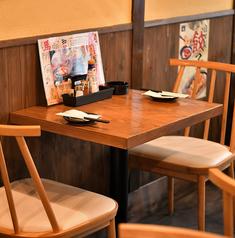 【1階】2名様用のテーブル席