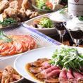 【料理人が心を込めて作る料理の数々・・・ゲストも大満足♪】専属の料理人が作るカジュアルイタリアン☆コース内容は人気のアヒージョ、ローストビーフなど全8品!