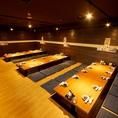 【最大50名様個室】宴会など、団体様におすすめの個室です。オープンは35名様まで宴会可能です!!