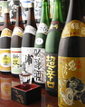 日本酒メニューも豊富!!1本ごとに変わる旬の日本酒。その出会いはまさに一期一会です♪飲み比べも出来ます!!
