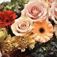 WEDDINGや歓送迎会などには花束もご用意できます。