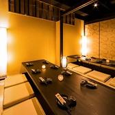◆ 最大70名様大人数個室 ◆最大70名様までご利用可能な広々とした個室席は、女子会や誕生日、デートはもちろん同窓会や大人数での貸切宴会、パーティーにも最適です。お寛ぎ頂ける店内で特別なお時間をご提供致します◎