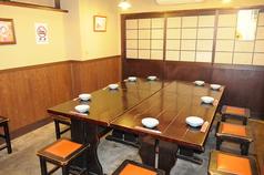 """爺々食堂 ■10~15名様収容 ■通称""""マスターの部屋 ■イスとテーブルのお部屋 ■移動式カラオケ完備"""