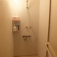 清潔なシャワールームございます