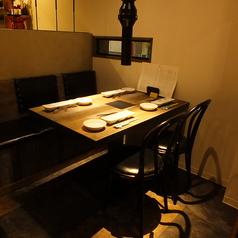 七輪を置いても広々のテーブル。