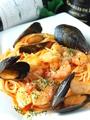 料理メニュー写真魚介のトマトソースのパスタ