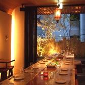 一体感のある大テーブルは各種宴会に最適です。