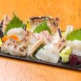 【五島列島直送鮮魚】日本酒に合うのは『和食』。当店では一つ一つの素材にこだわりました。手羽先や味噌カツ、ひつまぶしなど、名古屋のご当地料理はもちろん、鮮魚も長崎は五島列島から直送で届いた新鮮な鮮魚を使っています。日本酒、焼酎との相性は抜群。ぜひ併せてお楽しみください。