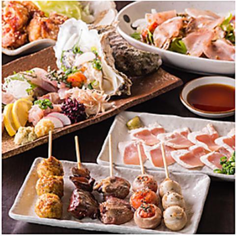鍋+雑炊セット・とりわさび・サラダ・小鉢がついた『豪華鍋コース』+3時間飲み放題5000円