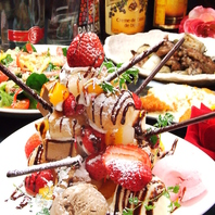 【誕生日・記念日に】デザートタワーコース3500円