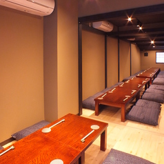 宴会用個室は、最大36名様まで可能ご宴会にどうぞ