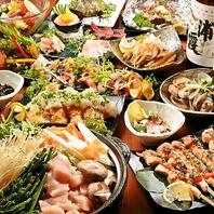 宴会向き食べ放題コースが2480円~!人気メニュー勢揃い