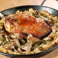 料理メニュー写真大山鶏のコンフィときのこのパエリア