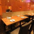 気軽な飲み会や宴会にぴったりです!最大45名様までのテーブル席のご用意があります。それ以上のご宴会はお店貸切も可能!お気軽にお問い合わせくださいませ