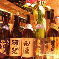 日本酒、女性の好きなスパークリングもご用意・・・