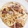 ポルチーニ茸のカチョ・エ・ペペ スパゲッティ