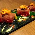 料理メニュー写真♪新看板メニュー♪炙りうにボ寿司 1貫/3貫
