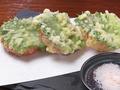 料理メニュー写真トマトと大葉の天ぷら