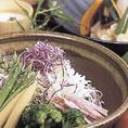 高原野菜のサラダ各種。
