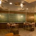 ◆店内の大きな黒板にはお客様が落書きして頂いてもOKです◆