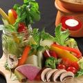 料理メニュー写真こぼれお野菜mitsubachiバーニャカウダー